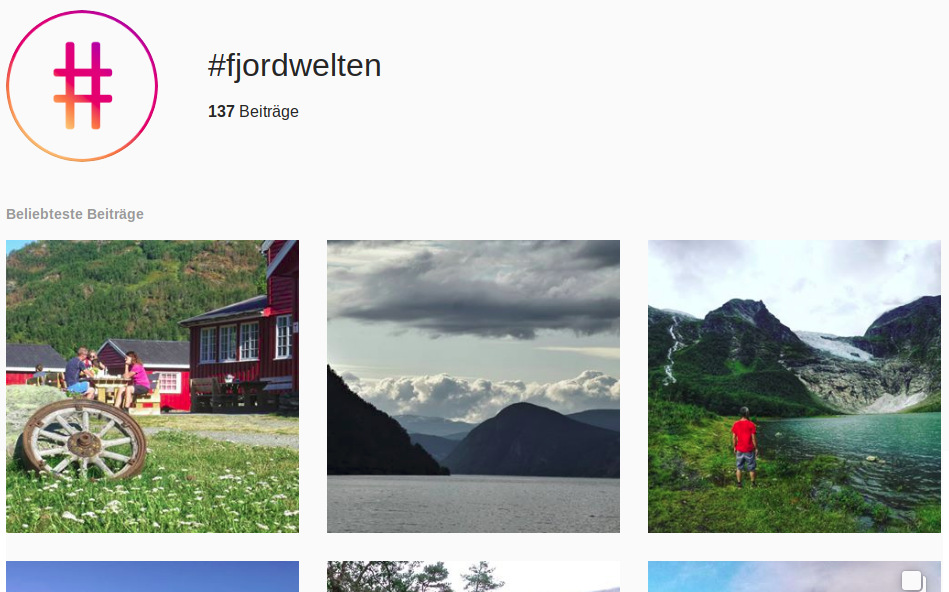 Norwegen Hashtags Instagram